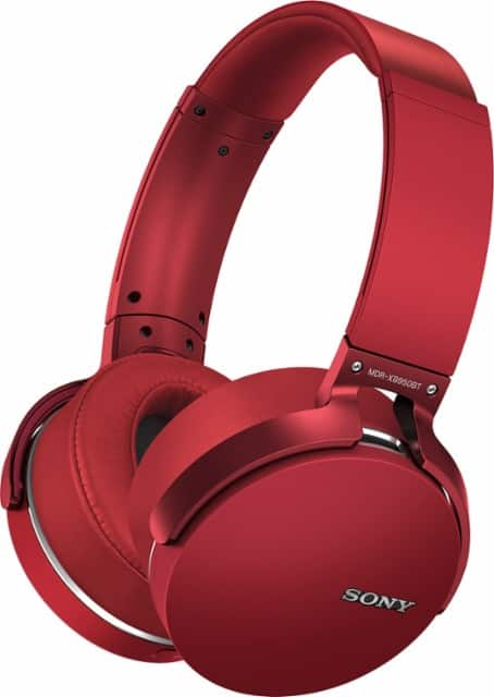 Sony - Extra Bass Wireless Over-the-Ear Headphones - Red for $79.99 @Bestbuy