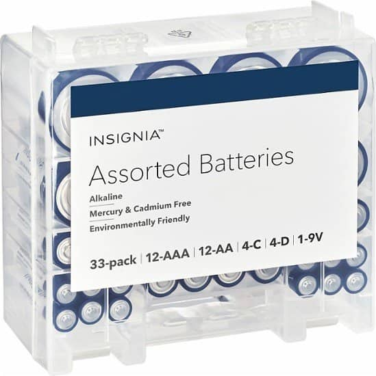 33-Pack Insignia Assorted Batteries for $8.99 @Bestbuy
