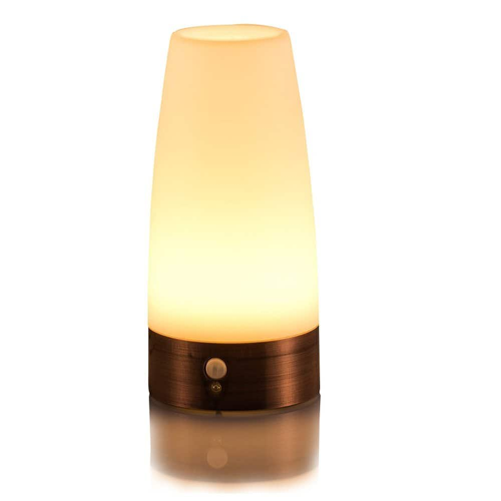 ZEEFO Retro LED Night Light Wireless PIR Motion Sensor, Activated Step lighting Lamps for $6.99 @Amazon