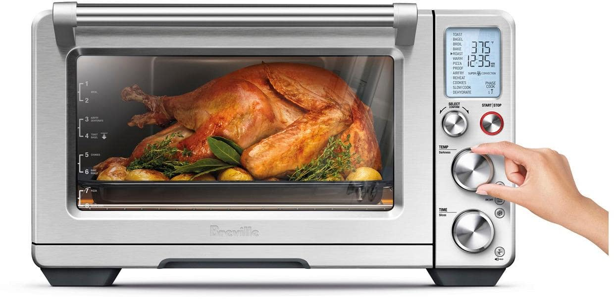 Breville - The Smart Oven Air Convection Toaster/Pizza Oven - Stainless Steel $319.99