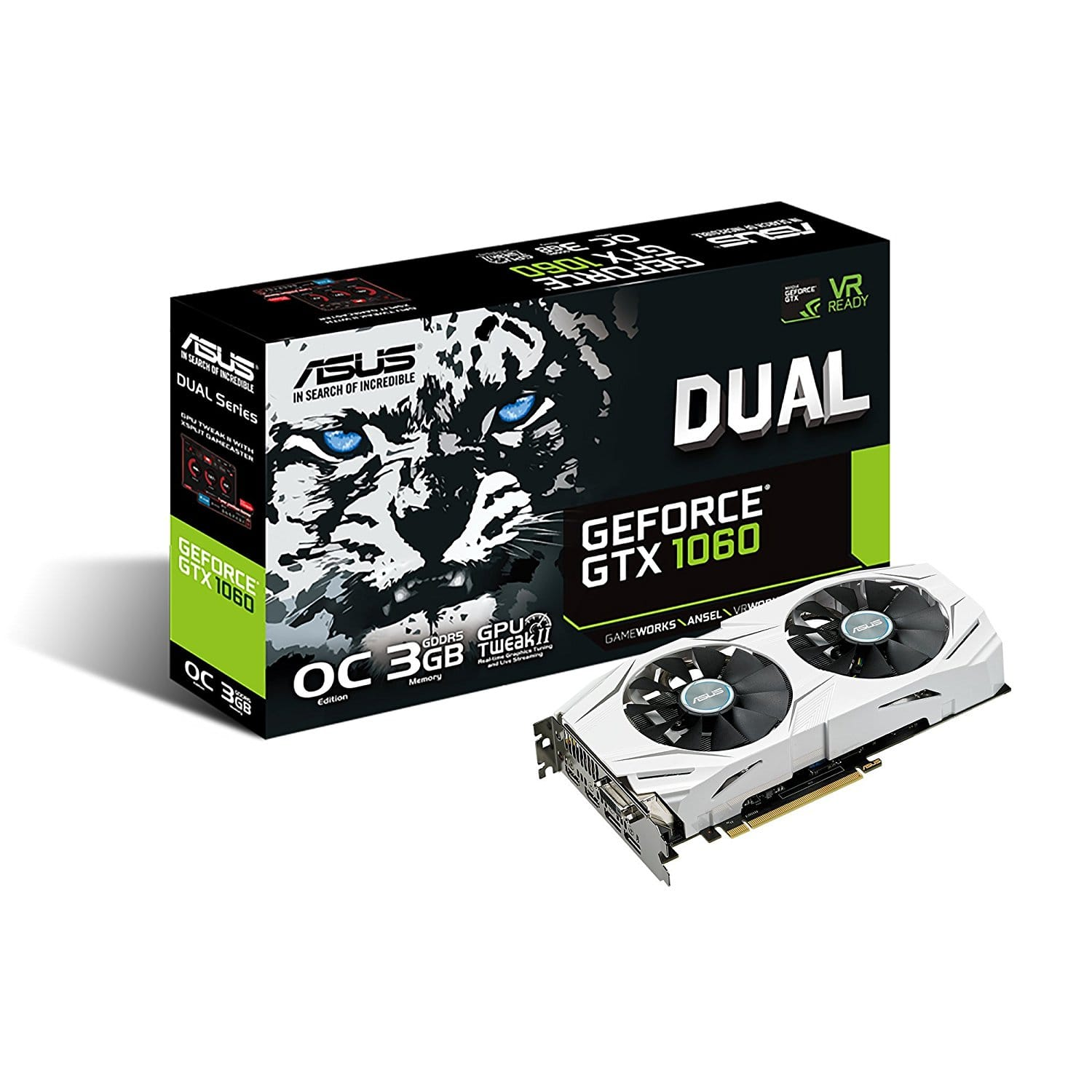 ASUS GeForce GTX 1060 3GB Dual-Fan OC Edition Graphics Card $207.99 with 20 rebate $187.99