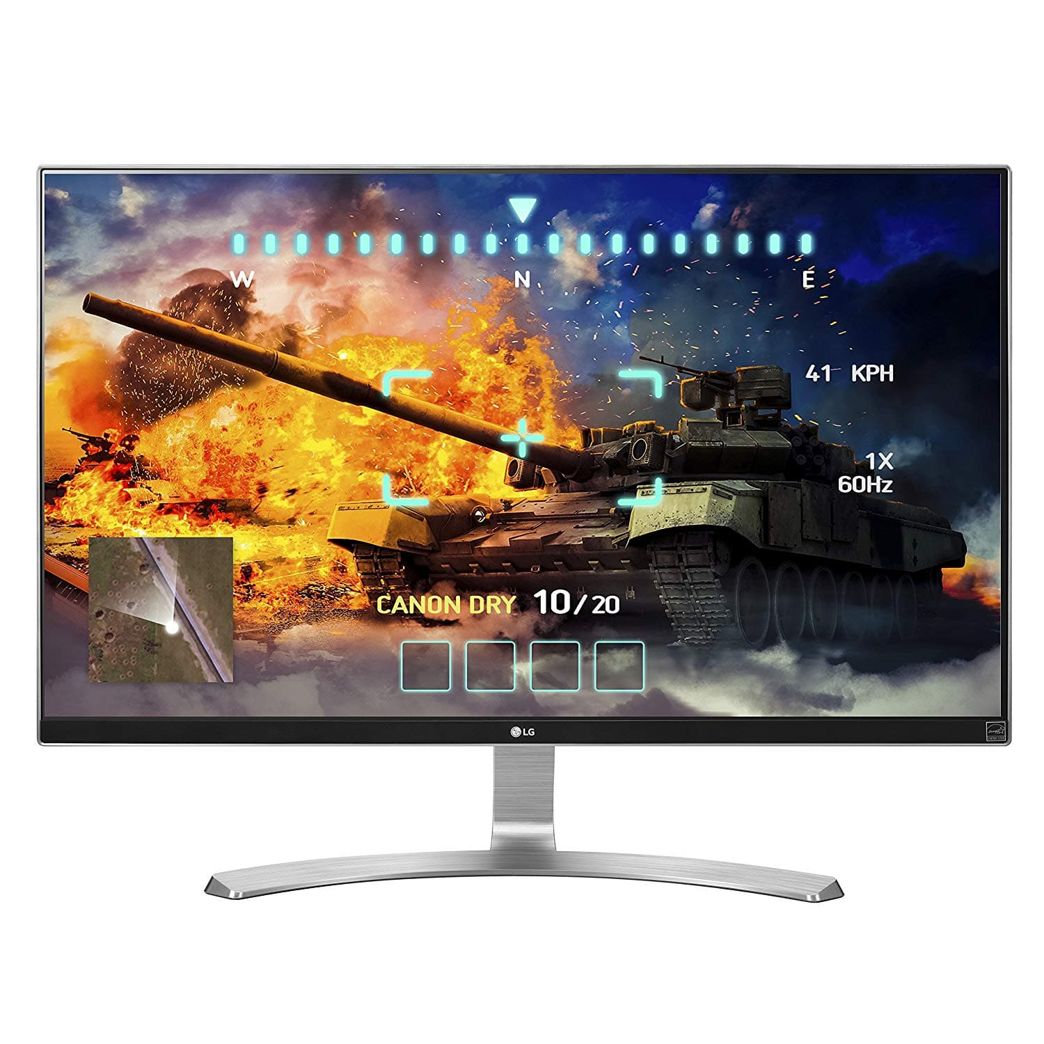 LG 27UD68-W 27-Inch 4K UHD IPS Monitor with FreeSync, Silver/White, VESA mount $300
