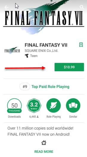 final fantasy 7 on android