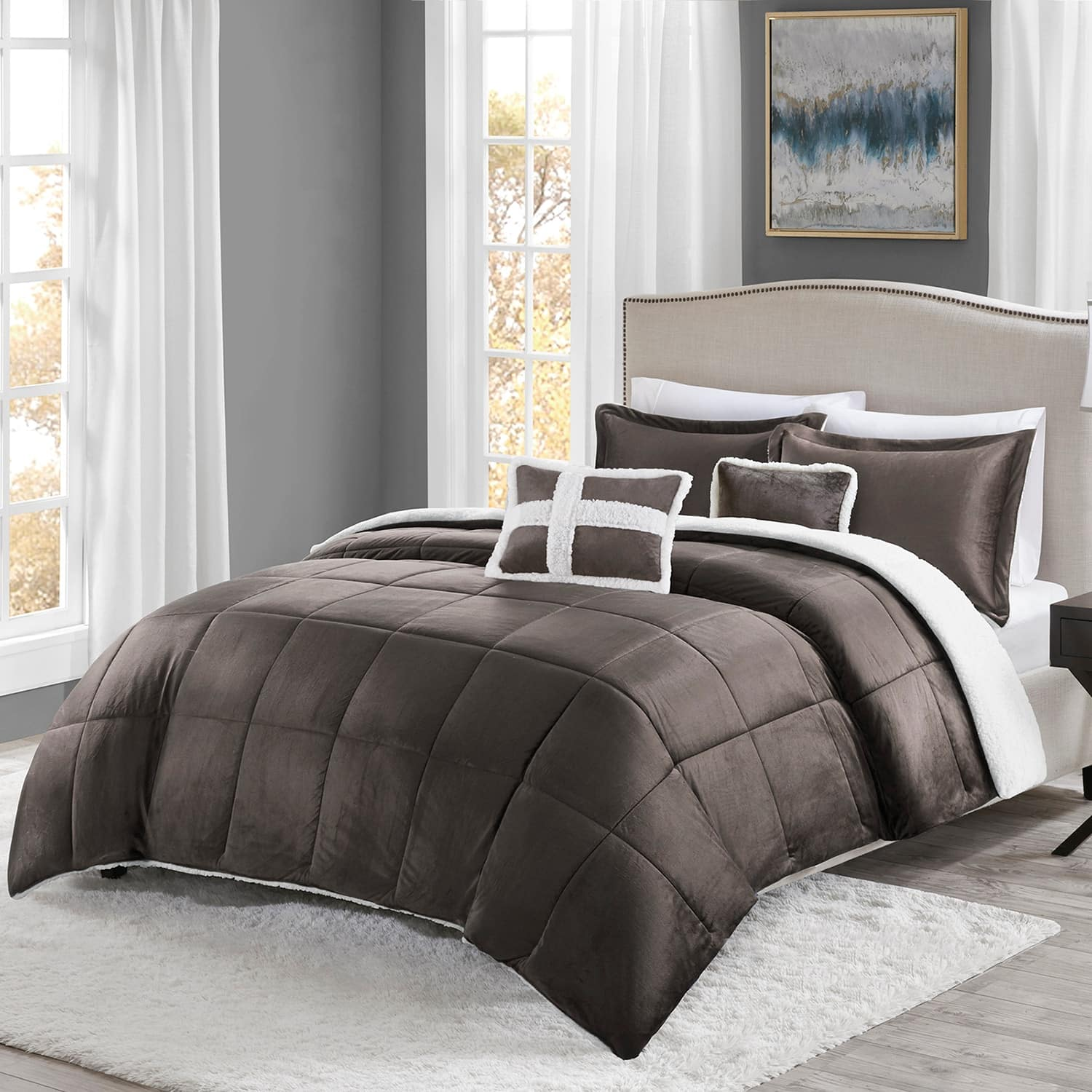 Kohls - True North mink to Sherpa Comforter set F/Q or Twin 15.99 + SH -   reg 159.99
