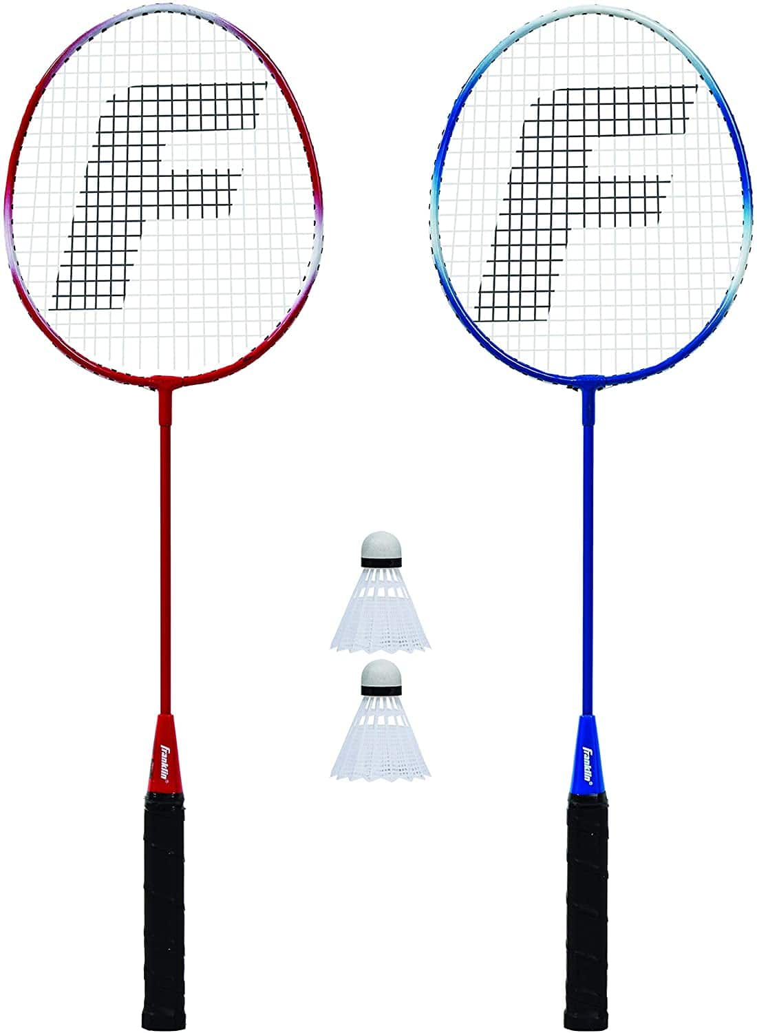 Franklin Sports 2 Player Badminton Racquet Replacement Set, One Size, Red, White, Blue (52623X) - $9.99 at Amazon