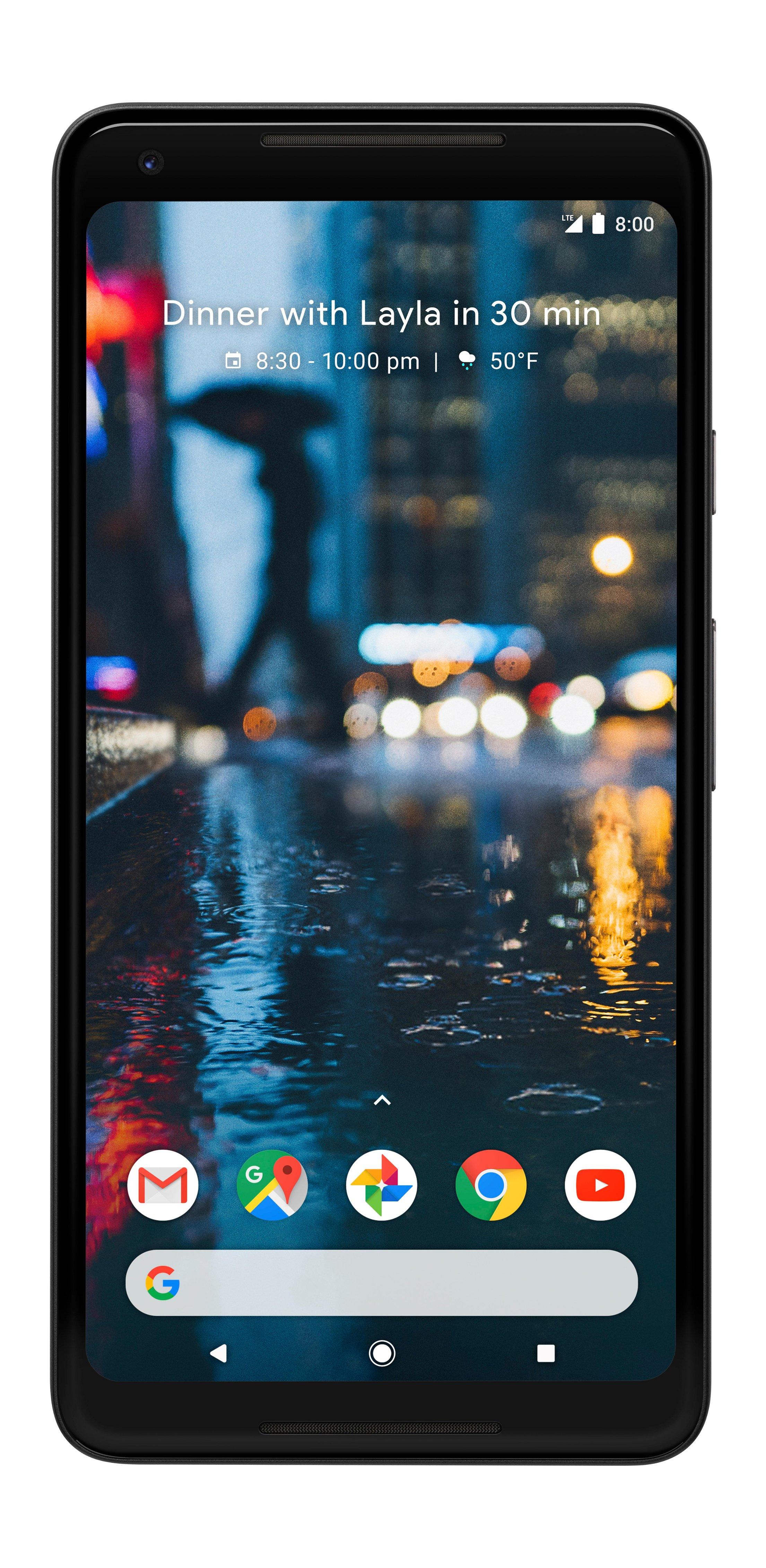 Google - Pixel 2 XL 64GB - Just Black (Verizon) $399