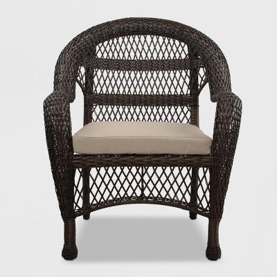 Sheridan Wicker Patio Club Chair Brown - Threshold $41.25