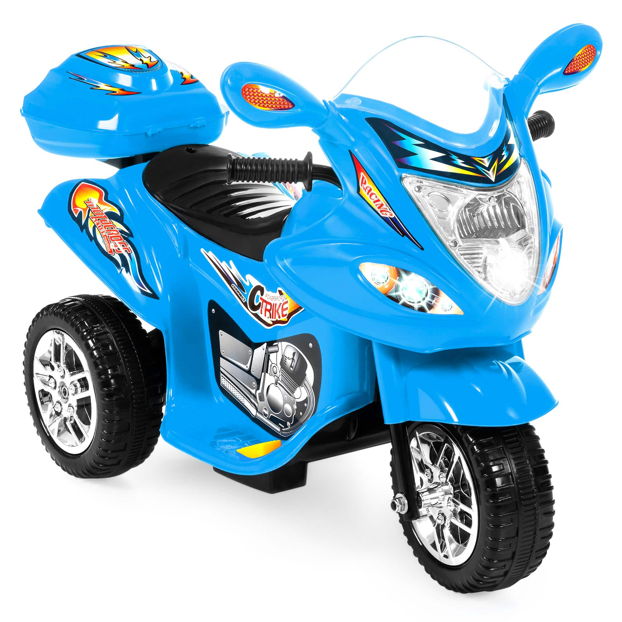 Best Choice Products 6V Kids Battery Powered 3-Wheel Motorcycle Ride On Toy w/ LED Lights, Music, Horn $57.99