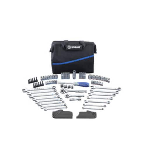Kobalt 110-Piece Standard (SAE) and Metric Mechanic's Tool Set Soft $22.5