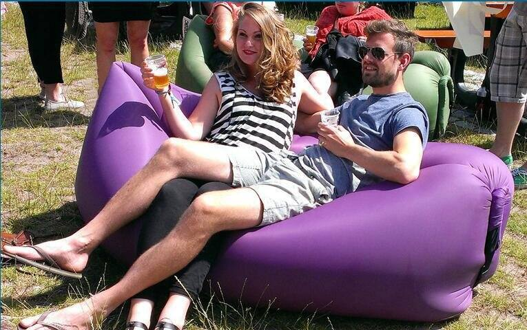 Inflatable Lounger Wind Breezy Pouch Couch Windbed Cloud Air Chair Sofa Bed $19.79 AC