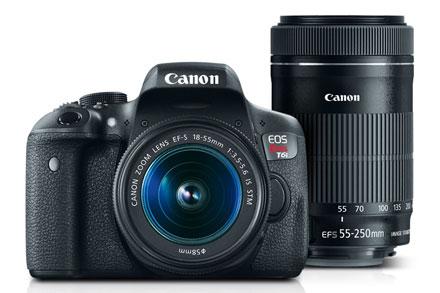 EOS Rebel T6i EF-S 18-55mm IS STM & EF-S 55-250mm IS STM Lens Refurbished $559.97