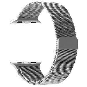 JETech Apple Watch Series 1/2 Milanese Band Silver for $7.99 | AMAZON
