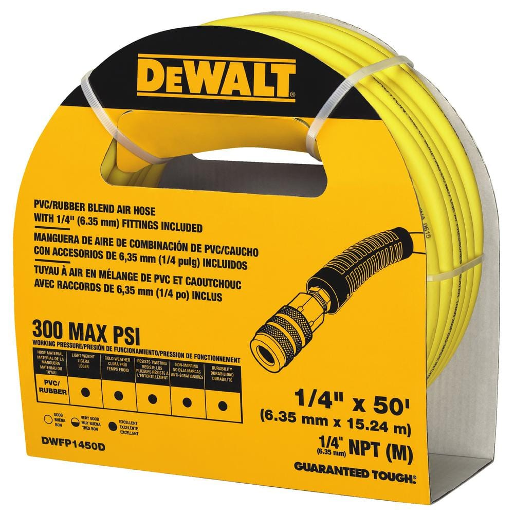 Dewalt 50 ft. x 1/4 in. Air Hose $13.04 IN STORE ONLY YMMV DWFP1450D
