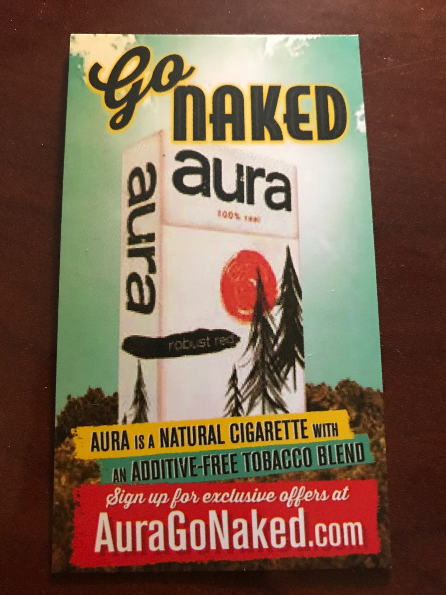 "Aura Cigarettes Free ""Limited Edition Welcome Gift"" (select states only, check wiki)"