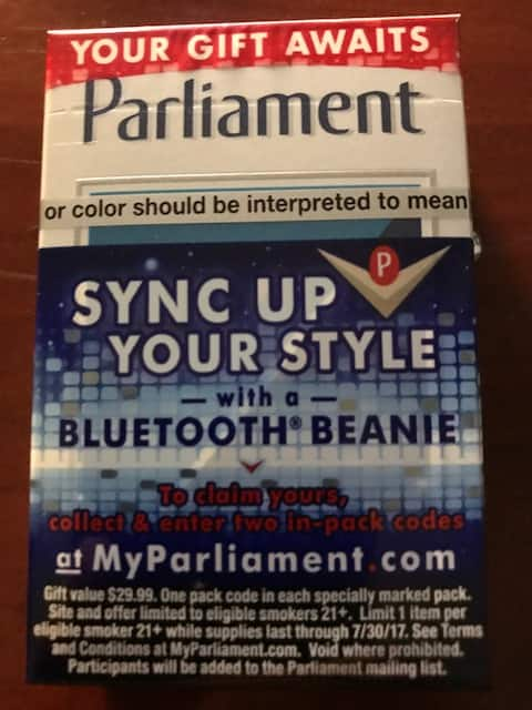 Free Bluetooth Beanie from Parliament Cigarettes with 2 codes NO CODE BEGGING!