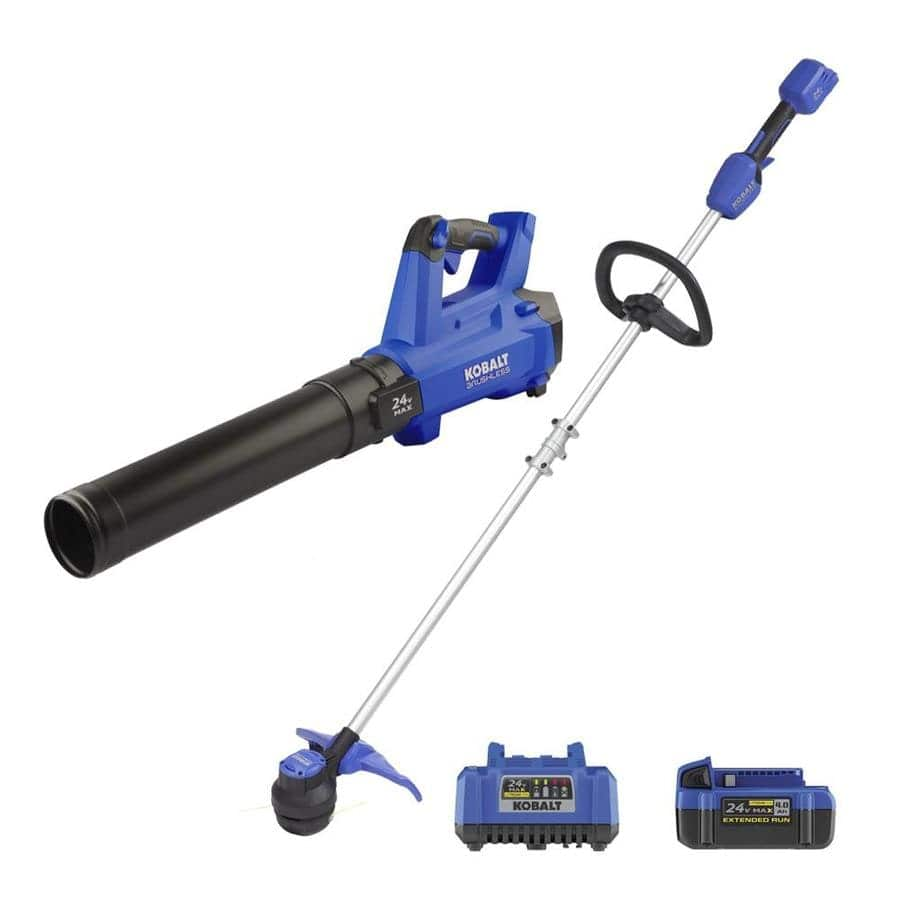Kobalt 24V Leaf Blower/String Trimmer combo Kit $129