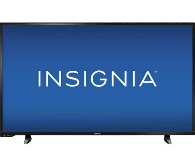 "Insignia 50"" LED 1080p Black TV for $300 +tax @bestbuy"