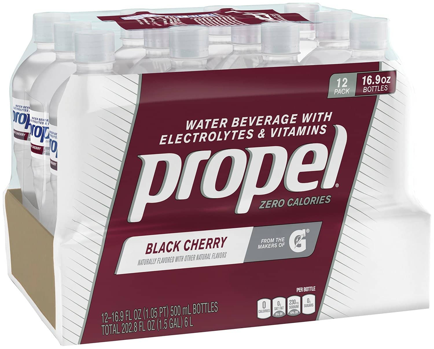 Propel, Black Cherry, Zero Calorie Sports Drinking Water, Pack of 24 $6.36