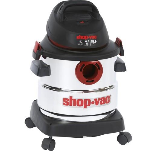 Shop-Vac 5986000 5-Gallon 4.5 Peak HP Stainless Steel Wet Dry Vacuum [Vacuum] $48.99