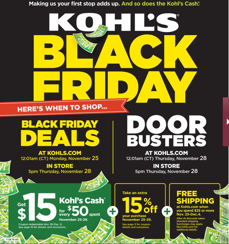 Kohls Black Friday ad