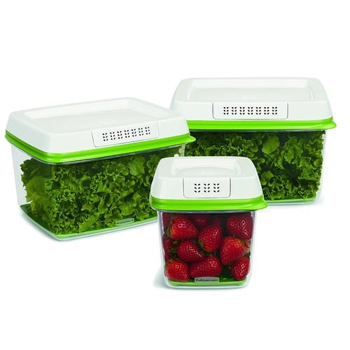 Rubbermaid FreshWorks Produce Saver Food Storage Containers, Set of 3 [Set of 3] $17.22