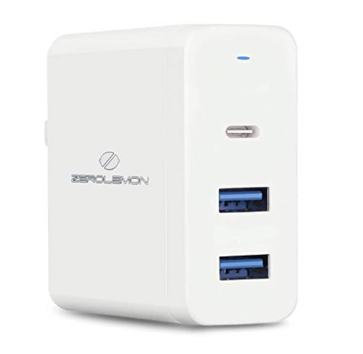 promo code 2c3bc 95988 ZeroLemon 60W 3-Ports USB C PD Charger with Power Delivery for Apple ...