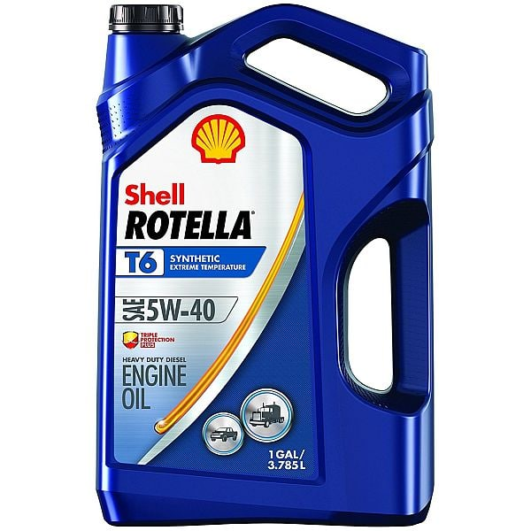 rotella rebate 1-Gallon Shell Rotella T6 5W-40 Full Synthetic Diesel Engine Oil ...