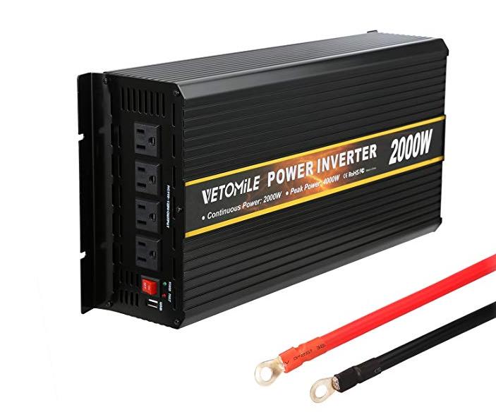2000W Power Inverter 12V DC to 110V AC Peak 6000W Converter Only 29.99 $29.99