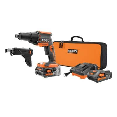 Ridgid 18-Volt Brushless 1/4 in. Drywall Screwdriver Kit w/ Collated Attachment IN STORE ONLY YMMV $99