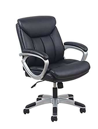 Essentials Leather Executive Computer/Office Chair with Arms - Ergonomic Swivel Chair (ESS-6020) - $46.51 shipped Prime