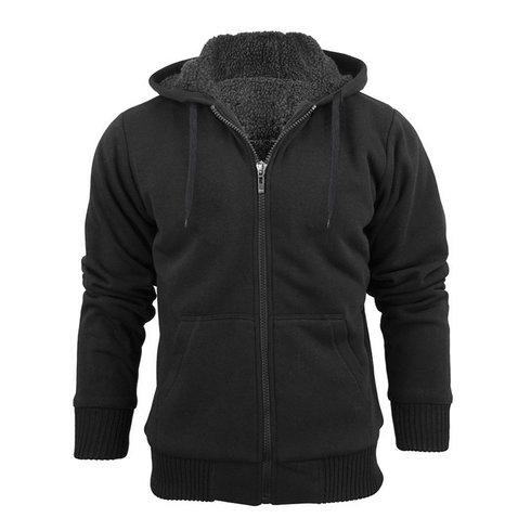 Heavy Sherpa Lined Zip Up Hoodie $22