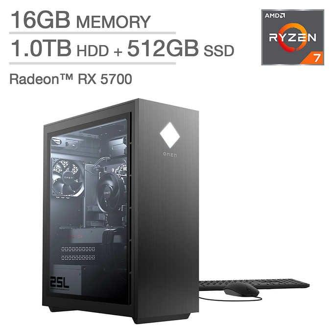 HP Omen 25L Gaming Desktop - AMD Ryzen 7 3700X - Radeon RX 5700 $1199.99