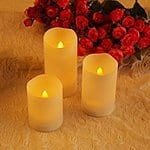 Ohuhu 3 Flameless Candles with Remote Control and Timer - Warm Yellow Light for $14.99 AC + FSSS @ Amazon.com