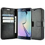 caseen Synthetic Leather Wallet Smartphone Cases for S6 Edge, S6, S5, Note 4, iPhone 6 / 6 Plus / 5S / 5 - 4.99+ w/ Free Shipping @ Amazon.com
