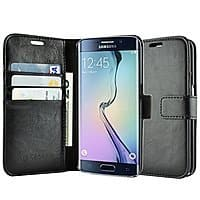 Amazon Deal: caseen Synthetic Leather Wallet Smartphone Cases for S6 Edge, S6, S5, Note 4, iPhone 6 / 6 Plus / 5S / 5 - 4.99+ w/ Free Shipping @ Amazon.com
