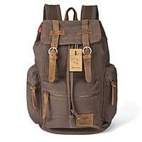 Amazon Deal: BESTOPE Vintage Men Casual Canvas Leather Backpack for $29.99 AC + Free Shipping @ Amazon.com