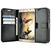 Amazon Deal: caseen Galaxy Note 5 'Ottimo' Synthetic Leather Wallet Cases $4.99, Note 5 Tempered Glass for $2.99 + Free Shipping @ Amazon.com
