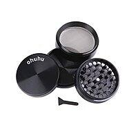 "Amazon Deal: Ohuhu 4 Piece 2.38"" Tobacco Spice Herb Grinder, Elegant Black for $9.99 AC + FSSS @ Amazon.com"