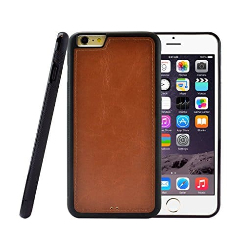 Caseen Apple iPhone 6 / 6 Plus Brown WALKER TPU Hybrid, Synthetic Leather Slim Case 'fusie' - $4.79 w/ Free Shipping @ Amazon