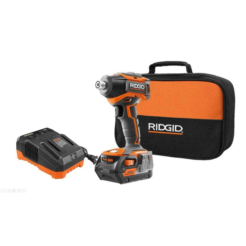 Ridgid Gen5X 18-Volt Lithium-Ion Cordless Brushless 1/4 in Impact Driver with 4Ah battery, charger and bag kit Clearance $70 YMMV