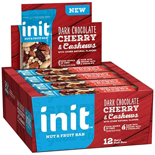 Init Nut & Fruit Bars, Dark Chocolate Almond & Summer Berries or Dark Chocolate Cherry & Cashews, 12 Count $8.06