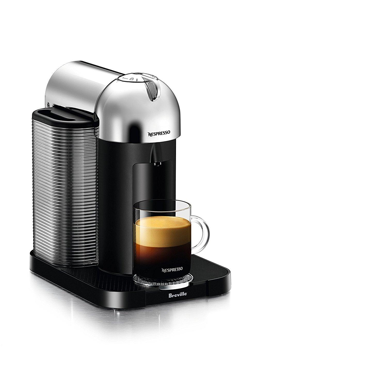 Nespresso Vertuo Coffee and Espresso Machine by Breville, Chrome $99