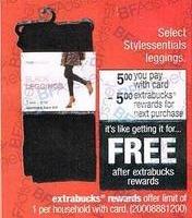 CVS Black Friday: Select Stylessentials Leggings + $5 in Extrabucks Rewards for $5.00