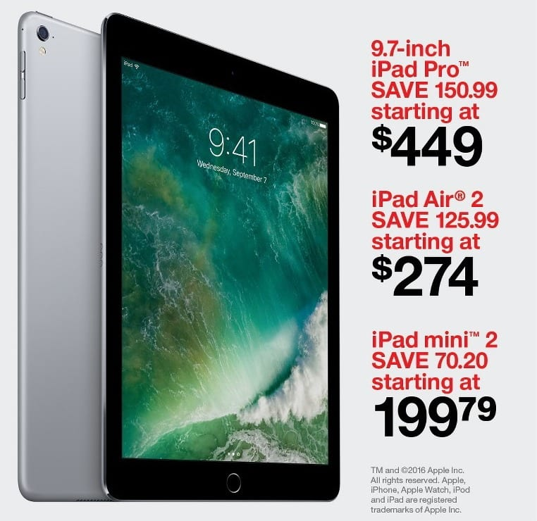 target black friday 32gb apple ipad air 2 wifi tablet for. Black Bedroom Furniture Sets. Home Design Ideas