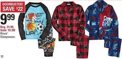 Shopko Black Friday: Boys' Sleepwear for $9.99