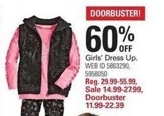 Shopko Black Friday: Girls' Dress Up - 60% Off