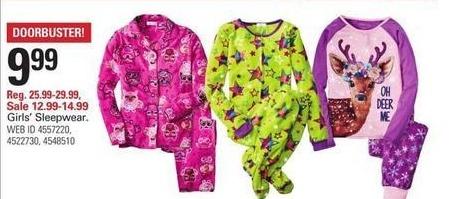 Shopko Black Friday: Girls' Sleepwear for $9.99