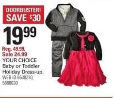 Shopko Black Friday: Baby or Toddler Holiday Dress-up, Your Choice for $19.99
