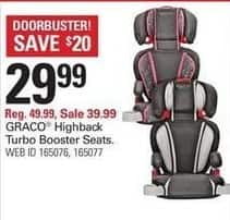 Shopko Black Friday: Graco Highback Turbo Booster Seats for $29.99