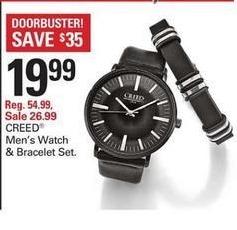 Shopko Black Friday: Creed Men's Watch & Bracelet Set for $19.99